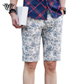 Brand Men's Shorts Big Size Floral Slim Casual Beach Shorts Summer Men's Business Leisure Straight High Quality Shorts 29-40