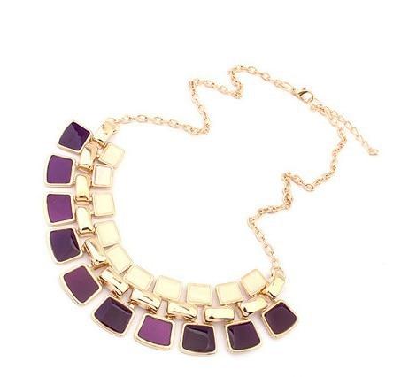 2019 collares de moda colgantes Collar de cadena de eslabones largo color oro esmalte declaración Bling y Collar de moda mujer joyería 1N039