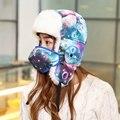 Женщины Зимой Теплый Bomber Шляпы Шапки Earflap России Ловец Авиатор Trooper 100% теплый Открытый Спорт Горные Лыжи Hat Cap