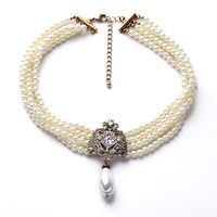 European And American Fashion Jewelry Wholesale Factory Direct Sales Of Luxury Wild Imitation Pearl Necklace Female