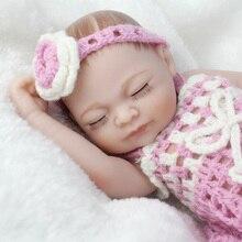 NPKDOLL Mini 10 Inch FulBody Silicone Reborn Dolls Sleeping Newborn Babies  Bebe Reborn Realistic Doll For Gift Bath Toy