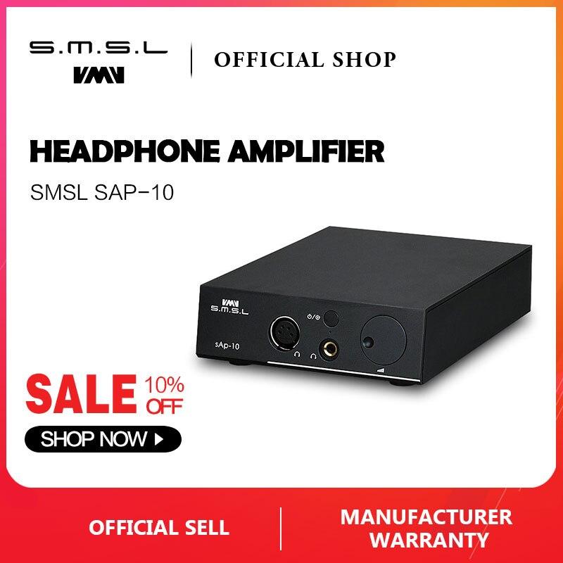 SMSL SAP-10 SALUT-FI amplificateur de casque Pleine Sortie Symétrique XLR et RCA Entrée Linéaire Intégré alimentation TPA1620A2 Puces Noir