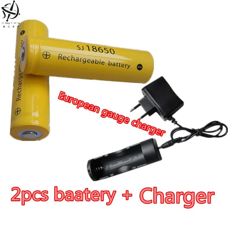 DING LI SHI JIA XH 2pcs 3.7V 9900mah 18650 battery lithium ion rechargeable battery flashlight 3.7V +18650 26650 charger with battery box 18650 li ion battery batteria rechargeable cells for lazer pointer strong beam torch toys 9900mah 3 7v