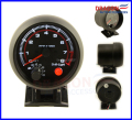 "Envío Libre 3.75 ""TACHOMETER GAUGE RPM ELÉCTRICA NEGRO/AUTO GAUGE/BORDE NEGRO CON SHIFT LIGHT 4-6-8 CIL"
