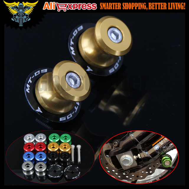 For YAMAHA FZ-09 FJ-09 MT-09 MT09 Tracer 2014 2015 2016 Gold Motorcycle Accessories Swingarm Spools slider 6mm stand screws