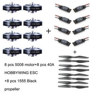 Image 1 - 8 قطعة 5008 400KV فرش السيارات + 8 قطعة 40A ESC + 8 قطعة 1555 المروحة ل طائرة مزودة بجهاز للتحكم عن بُعد