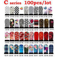 100sheets Water Transfer Nail Art Stickers Decals Flowers Design Nail Tips Wraps Decoration DIY Nail Beauty Tools Wholesale