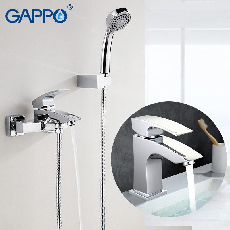 GAPPO bathtub faucet bath shower Bathroom Shower Faucet tap set Basin faucet chrome bathroom wash basin taps fie new shower faucet set bathroom faucet chrome finish mixer tap handheld shower basin faucet