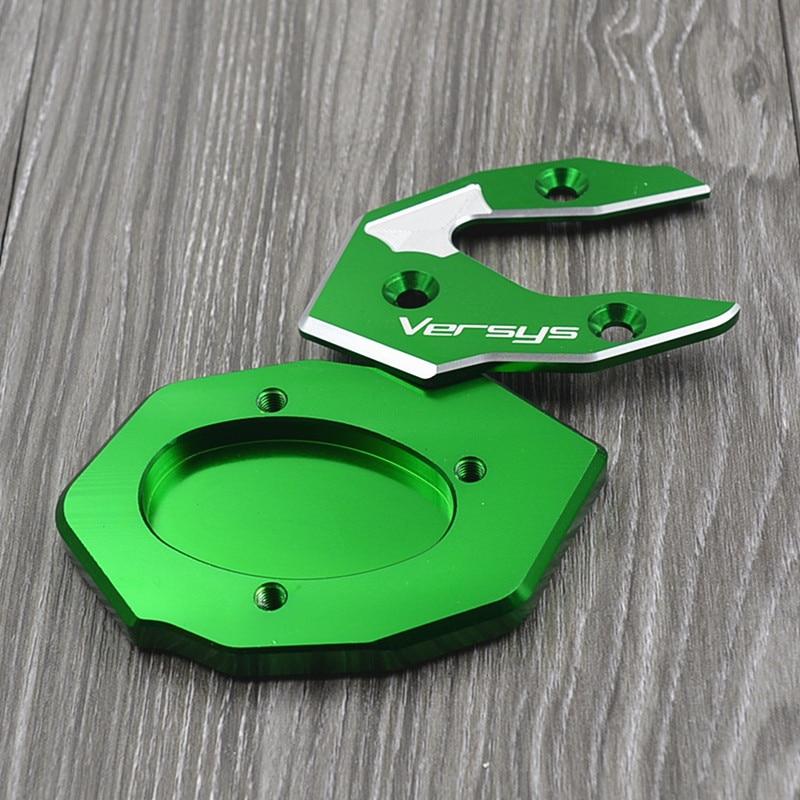 Piastra ingranditore per estensione cavalletto laterale in alluminio CNC Pad per Kawasaki VERSYS300 versys X300 X250