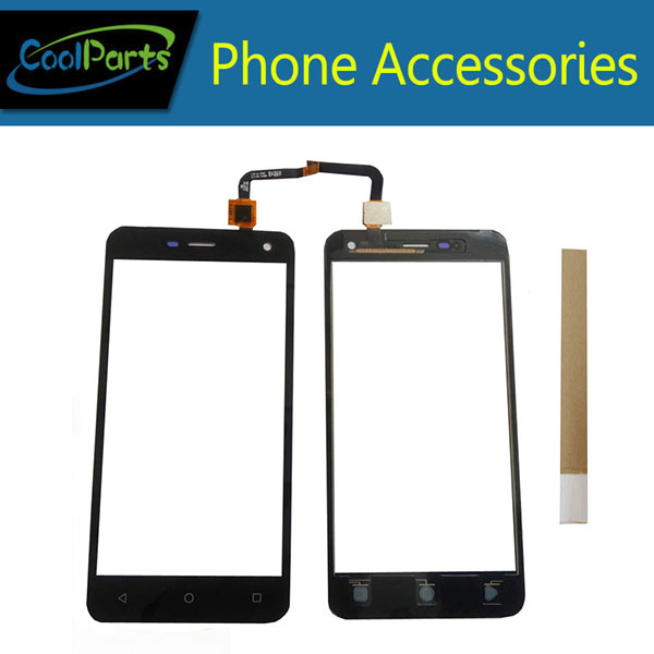 1PC/Lot High Quality 5.0inch For Micromax Q341 Touch Screen Digitizer Touch Panel Lens Glass With Tape Black Color