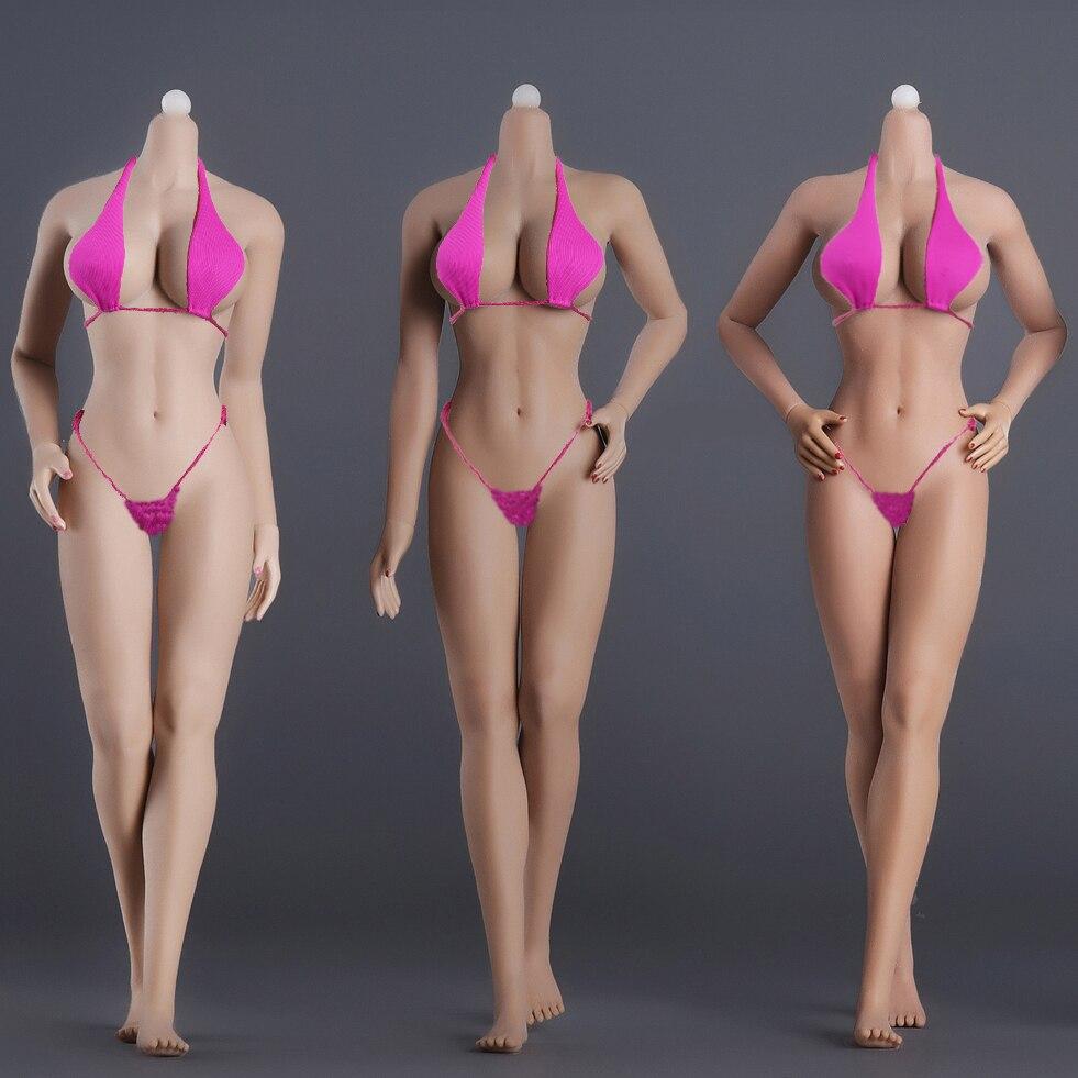 1 6 Female Body Model Super Flexible Seamless Body Stainless Steel Skeleton Big Breast for 12