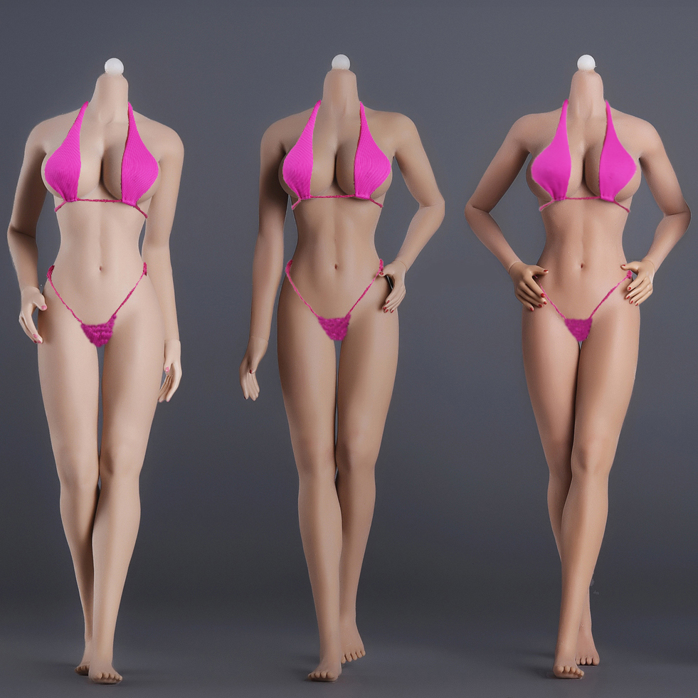 """1/6 Female Body Model Super Flexible Seamless Body Stainless Steel Skeleton Big Breast For 12"""" Phicen Tbleague Action Figure Toy"""