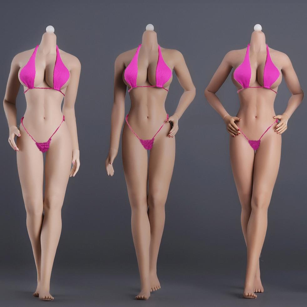 1/6 Female Body Model Super Flexible Seamless Body Stainless Steel Skeleton Big Breast For 12