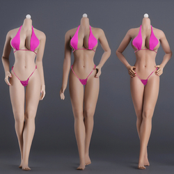 1/6 Female Body Model Super Flexible Seamless Body Stainless Steel Skeleton Big Breast for 12 Phicen Tbleague Action Figure Toy