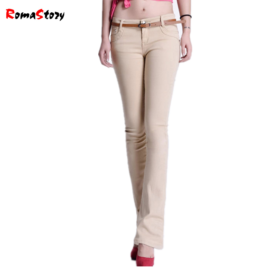 2017 Spring Autumn high waist jeans women Casual Candy Color lager Size Denim Pants Skinny Jeans Trousers Women jeans Z2374 2015new plus size women jeans trousers casual denim pencil pants spring big elastic high waist empire legging free shipp0828xxxx