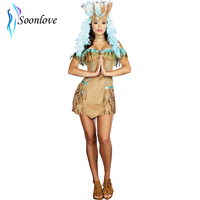 Stretch Faux Suede Adult Women Dancing Diva Indian Costume Native American Deluxe Women Costume L1314