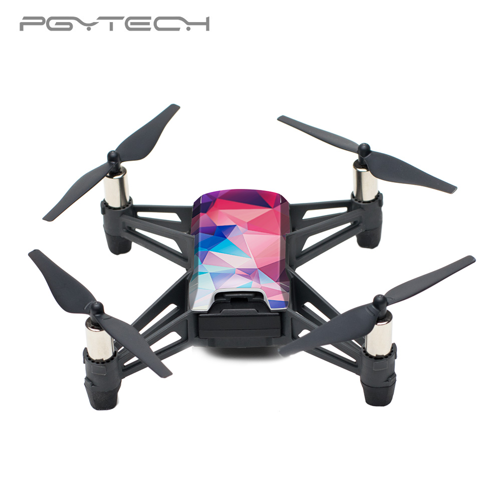 US $6 55 5% OFF PGYTECH DJI TELLO Sticker Waterproof Drone Skin Sticker  Protective Skin Cover Sticker Body sticker for RYZE Drone Accessories-in