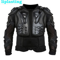 Black Motorcycle Jacket Motorcycle Motocross Racing Full Body Protective Armor Jacket Gear Protect Spine Chest Size