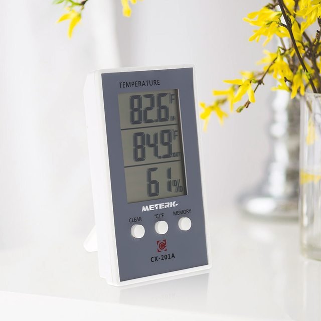Meterk Digital Indoor/Outdoor Thermometer Hygrometer weather station tester Temperature Humidity MeasureMax Min Value Display
