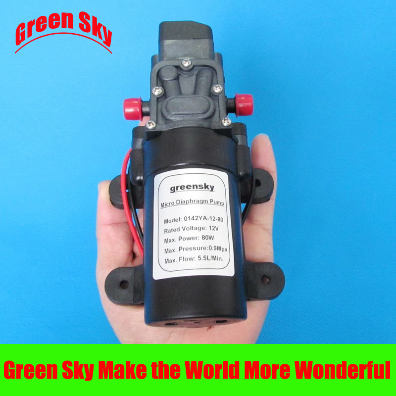 5.5L/Min 8m range 80W 12V diaphragm self-priming water pump dc pump high pressure 0 75kw self priming water pump for high rise wells in the river lake 220v household jet garden pump 4 5m3 h big capacity