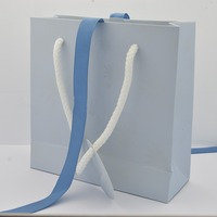 Wholesale 10Pcs Europe Brand Blue Snowflake Style Paper Gift Bag FIT Original Pan Jewelry Box Packaging