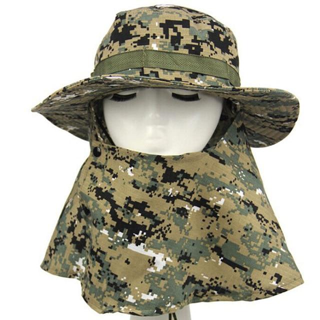 Outdoor Hunting Men s Jungle Bonnie Hat Digital Camo Fishing Sun Flap Bucket  Hat e5a5e9868217