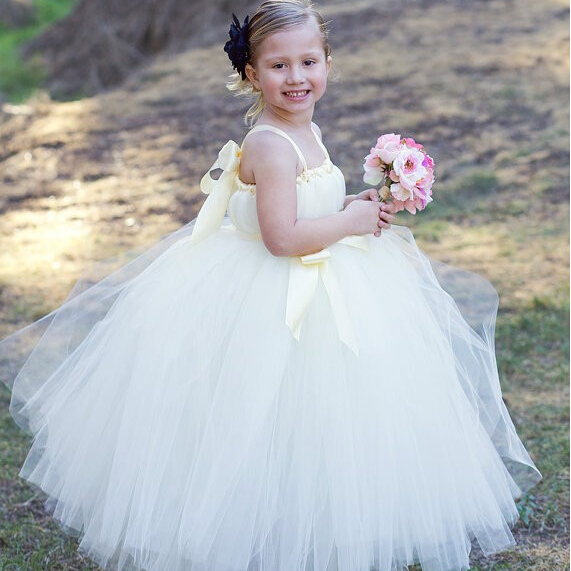 2015 New Flower Girl Dresses with Sashes Princess Communion Ball Party Pageant Dress for Wedding Little Girl Kids/Children Dress