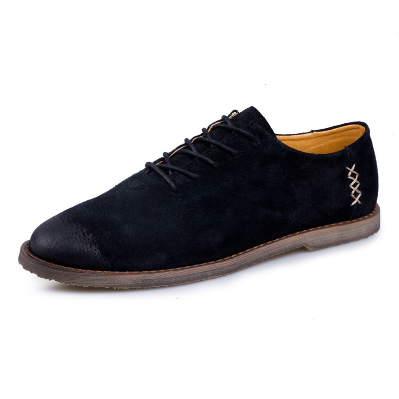 red khaki Britannique Occasionnels Respirant Chaussures Style Casual Hommes Vintage Black 8A6qwwCn