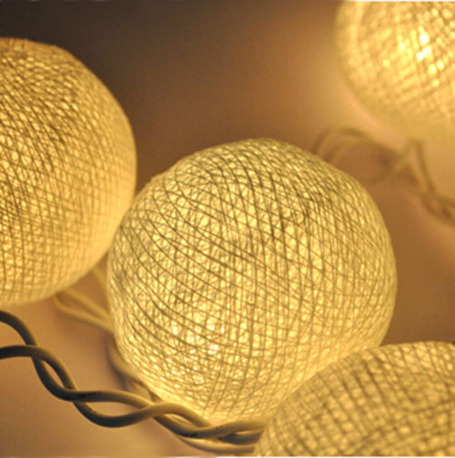 3M 20 LED Fabric Cotton Ball indoor string lights for Chrismas tree,decoration lamp-in LED ...
