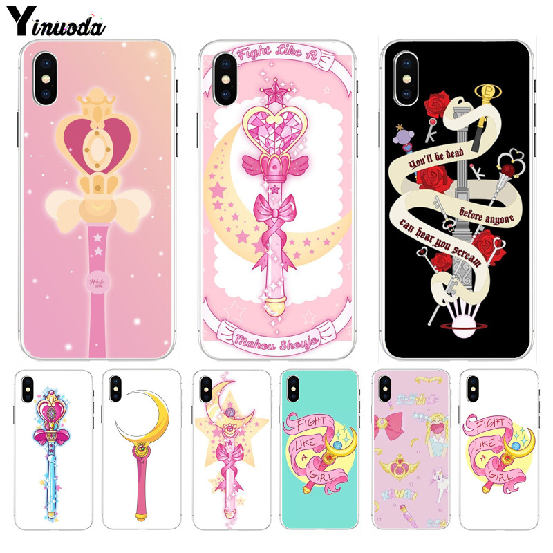 Cellphones & Telecommunications Yinuoda Girl Pink Series Super Cute Sailor Moon Mobile Shell Phone Phone Case For Iphone 7 Plus 5 5s 5c Se 6 6s 7 8 8plus X Half-wrapped Case