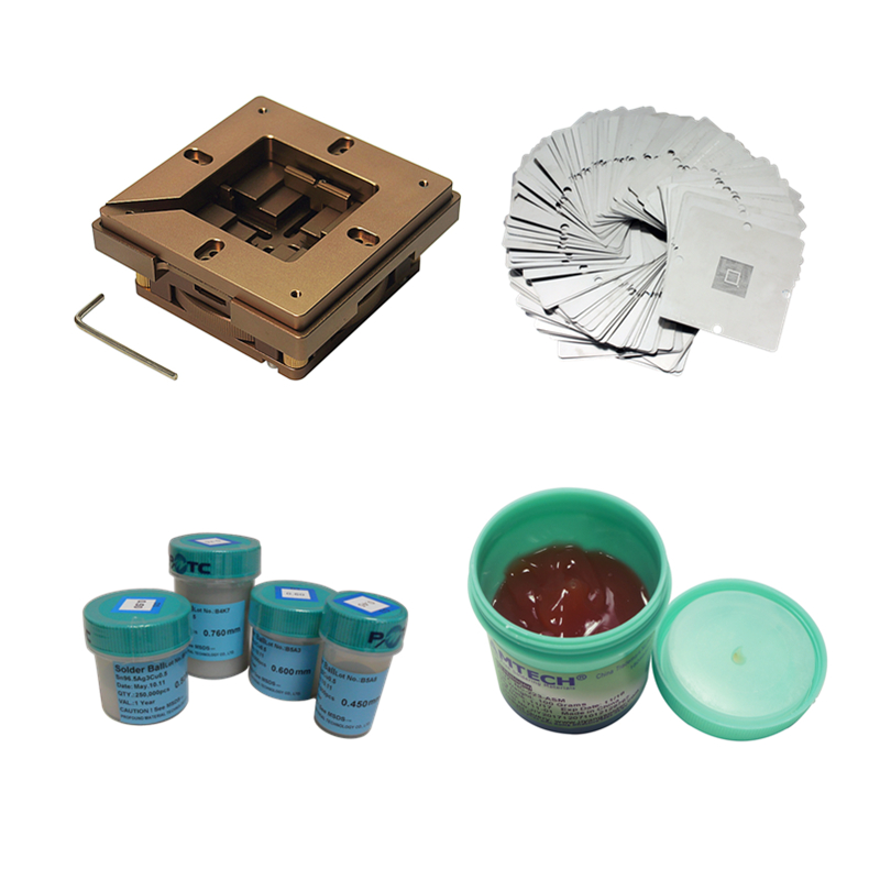 BGA repair kit 80mm 90mm reballing station with 33pcs Universal Stencil for game console solder repair rework stationBGA repair kit 80mm 90mm reballing station with 33pcs Universal Stencil for game console solder repair rework station