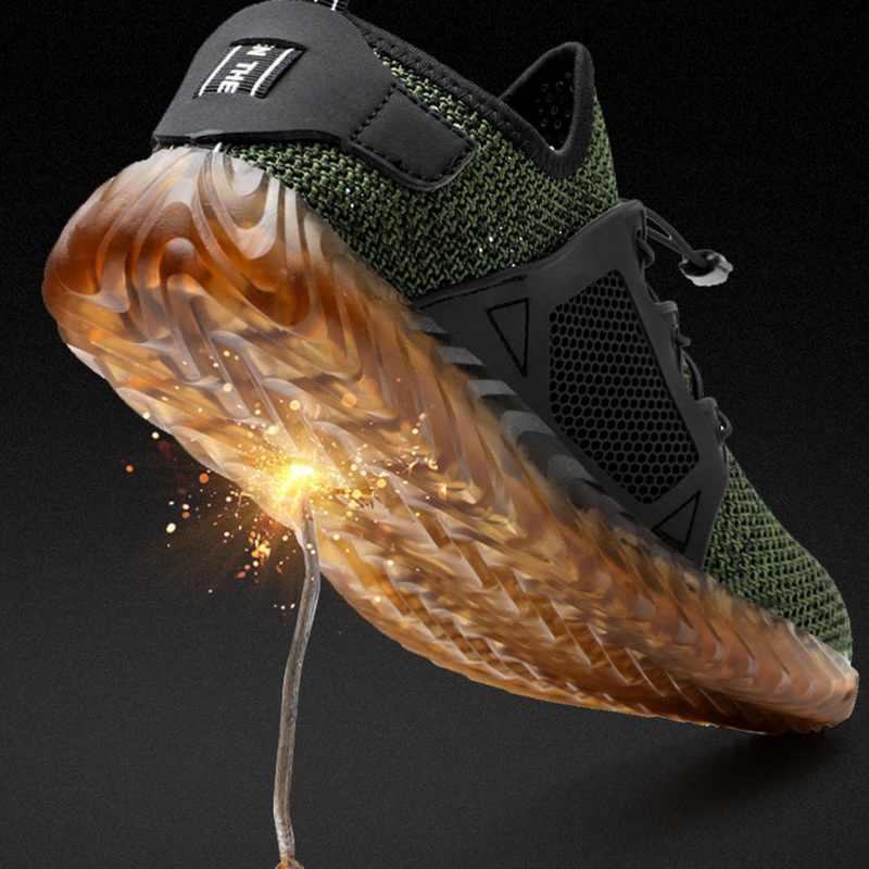 Vertvie Yıkılmaz Ryder Ayakkabı Erkekler Ve Kadınlar Çelik Ayak Hava Güvenliği Bot Delinme Geçirmez Iş Sneakers Nefes Ayakkabı Artı
