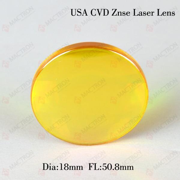 ФОТО High USA ZnSe Laser Cutting Machine Focus Lens Dia 18mm ,50.8mm focal length co2 Laser Znse Focus Lens