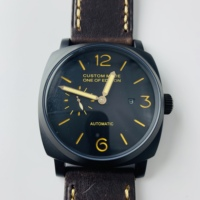 New Luxury Business 47mm Men's Watch Automatic Mechanical Stainless Calendar Military Watch