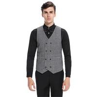 Envmenst Brand Men Suit Vest Classic V Collar Waistcoat Mens Formal Slim Sleeveless Vest Men Black Gilet Homme