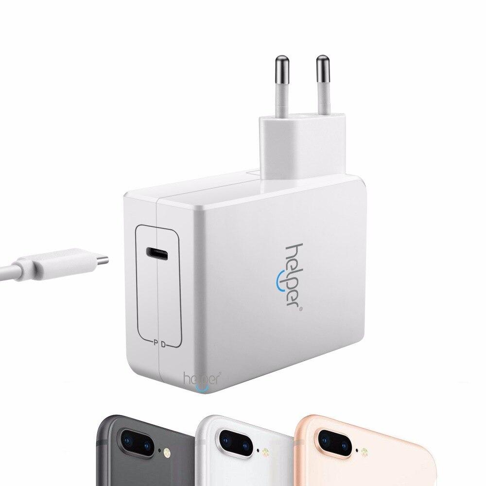 USB Type C PD Wall Charger Fast Charging Power Adapter for Macbook pro touchbar IPhone 8 iphone X po рабочие pro skit pd 372 мини зажим рабочих инструментов плоского мобильного телефона ремонт