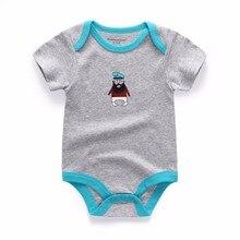 4 Pcs/Lot Unisex O-Neck Unisex Infant Baby Rompers