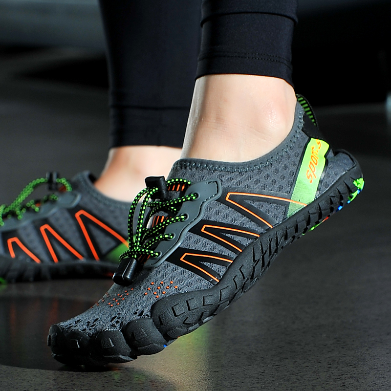 Chiced Breathable Mesh Men Water Sport Shoes Flat Beach Shoes Upstream Shoes Outdoor