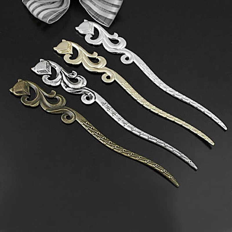 (27157) 5 Pcs 160X23 Mm Perak Antik Paduan Seng Fox Jepit Rambut Bookmark Diy Temuan Perhiasan Grosir Aksesoris