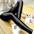 2016 Fashion women slim leggings black high stretch bodycon ankle-length femme leggings plus size footless skinny mid-waist pant