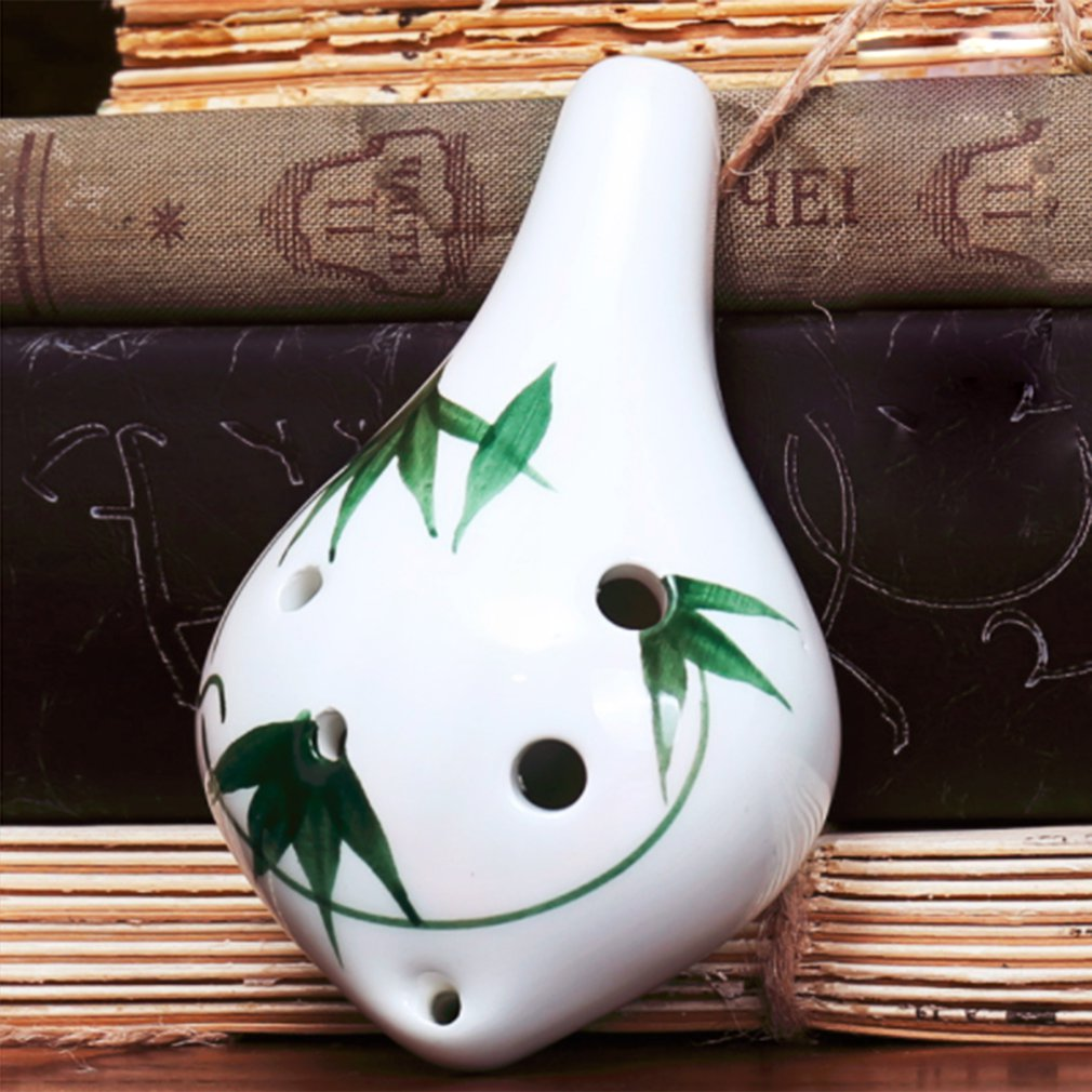 Ceramic Pottery 6 Holes Ocarina Flute Zelda Alto C AC Ceramics Professional Musical Woodwind Orff Instrument For Beginners