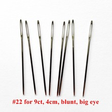 oneroom 20pcs/lot #22 for aida 9ct fabric white Needles 4cm blunt big eye