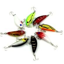 Hot 8pcs/lot 50mm 3.6g Mini Minnow Fishing lures Treble hooks Artificial Plastic hard baits Fishing tackle