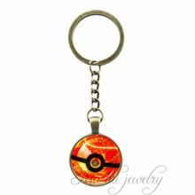 Pokemon Inspired Cabochon Key Chain