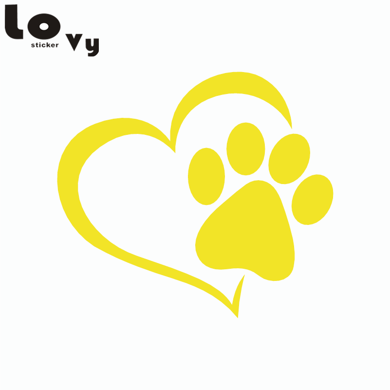 2pcs Cute Dog Paw with Car Peach Heart Car Sticker Cartoon Animal - Aksesorë të jashtëm të makinave - Foto 5