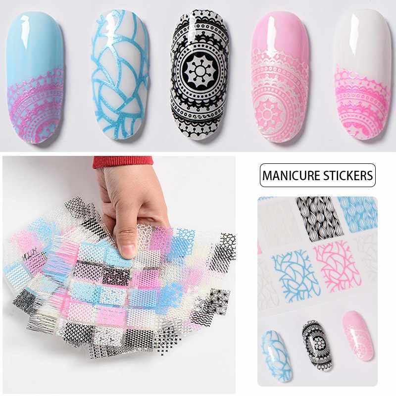 RBAN 3d ногтей водная переводная Наклейка s Сердце Звезда полосы волна дизайн ногтей украшения маникюрные инструменты наклейки для ногтей