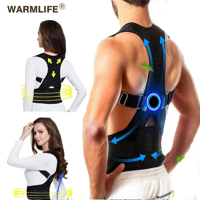 Male Female Adjustable Magnetic Posture Corrector Corset Back Brace Back Belt Lumbar Support Straight Corrector|Braces & Supports|   - AliExpress