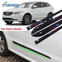 smRKE Body Side Door Rubber Decoration Strips Protector Bumper For Volvo XC60 XC90 S90 C70 S60 S60L V60 V40 S80L Series
