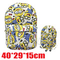 2017 Anime Despicable Me Adventure Time Backpack Canvas Bag School Bags for Boys Girls Casual Schoolbag Knapsack Gift