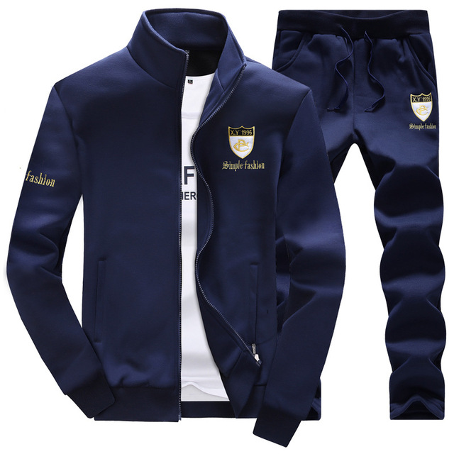 DIMUSI 2017 New Men Sportwear Tracksuit Male Outwear Sweatshirts Patchwork Men Hoodies Stand Collar Male Tracksuit 3XL,YA304